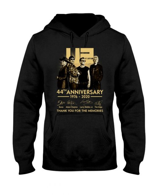 U2 44th anniversary thank you for the memories hoodie