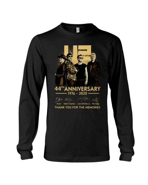 U2 44th anniversary thank you for the memories long sleeved