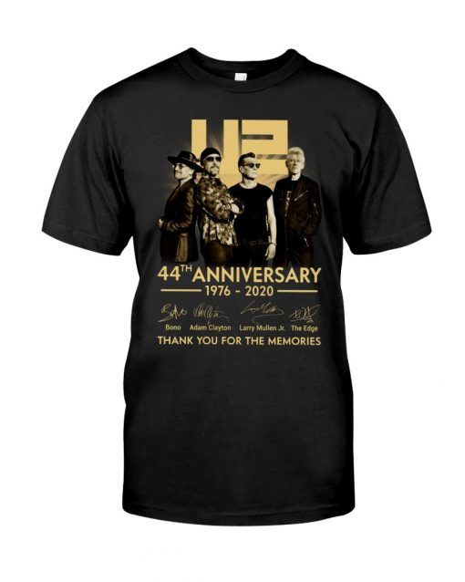 U2 44th anniversary thank you for the memories shirt