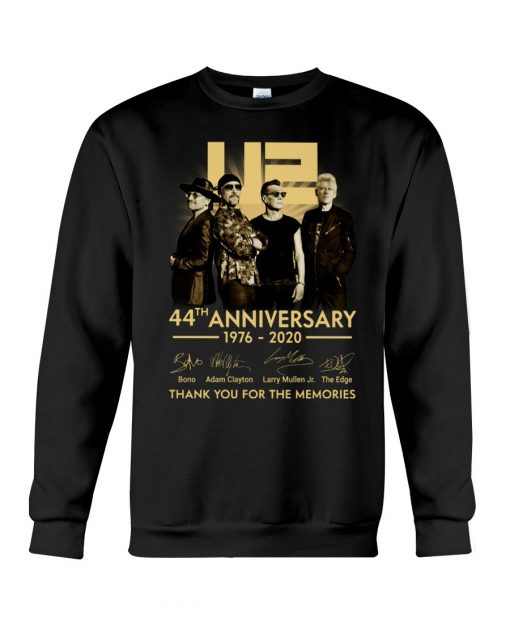 U2 44th anniversary thank you for the memories sweatshirt