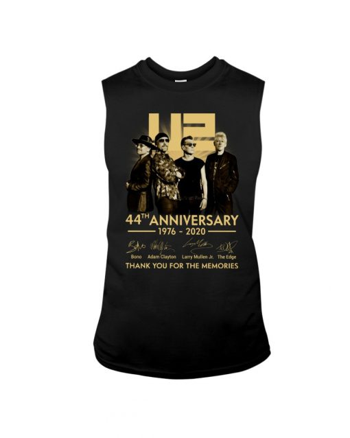 U2 44th anniversary thank you for the memories tank top