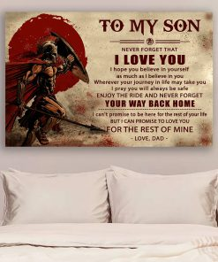 Warrior To my son never forget that i love you custom poster