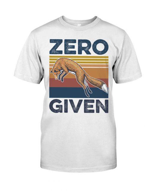 Zero Given fox vintage shirt