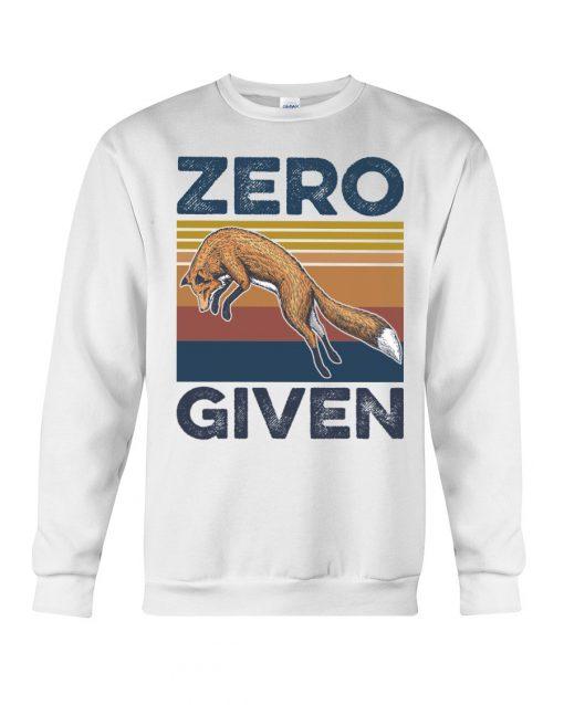 Zero Given fox vintage sweatshirt