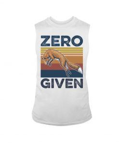 Zero Given fox vintage tank top