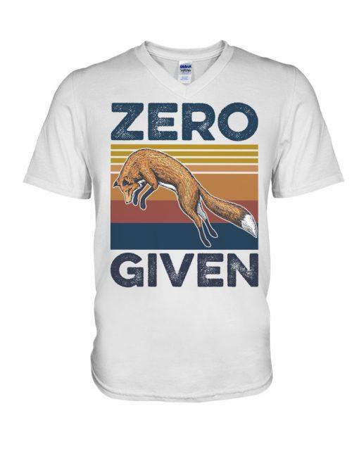 Zero Given fox vintage v-neck