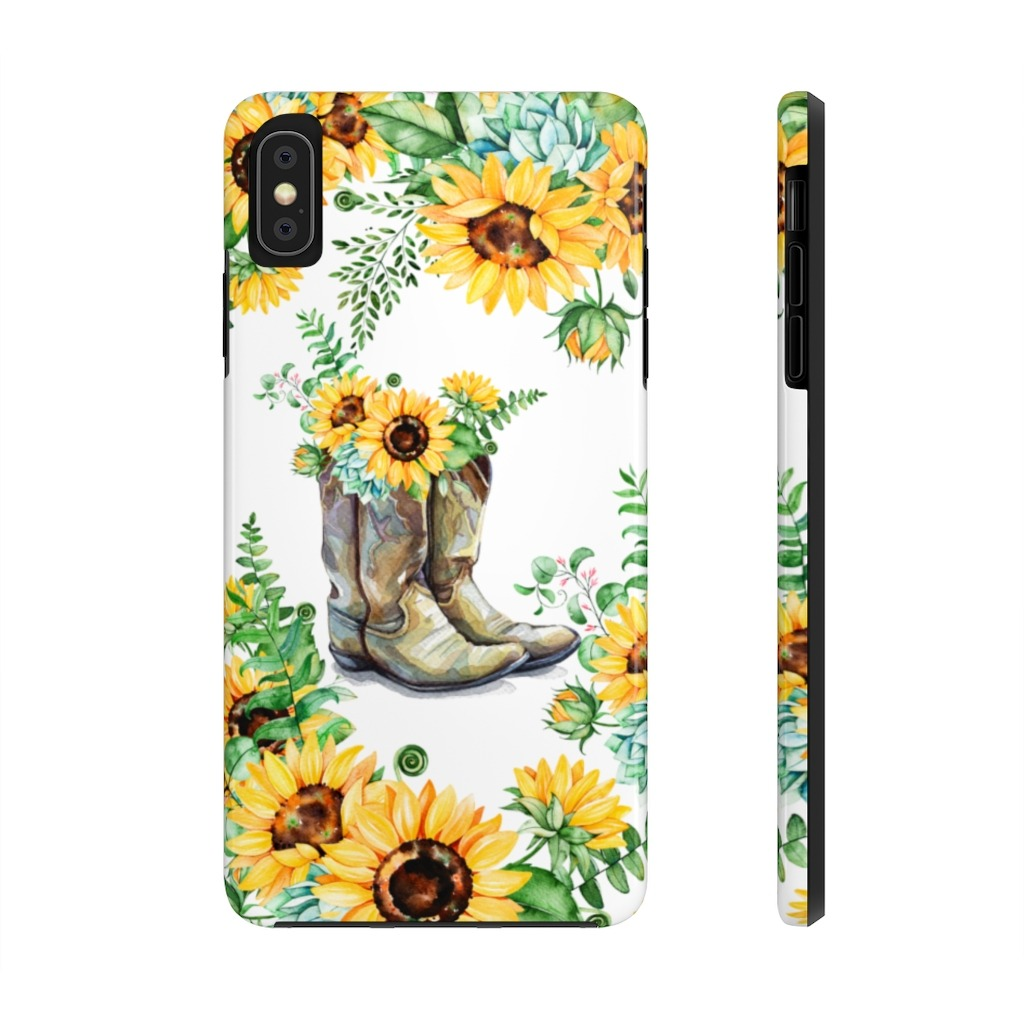 Sunflowers boots iPhone XS MAX