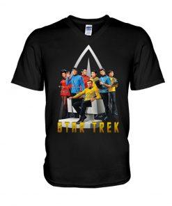 regularStar Trek characters signatures logo v-neck