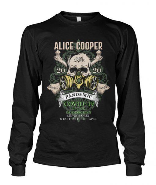 Alice Cooper Skull 2020 Covid-19 Pandemic long sleevd