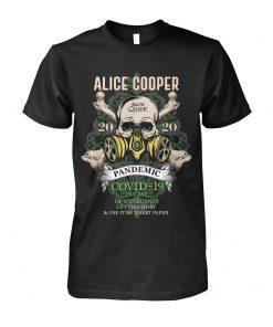 Alice Cooper Skull 2020 Covid-19 Pandemic shirt