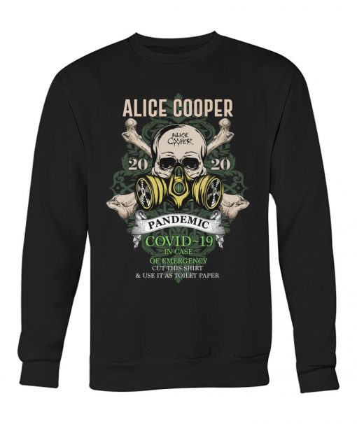 Alice Cooper Skull 2020 Covid-19 Pandemic sweatshirt
