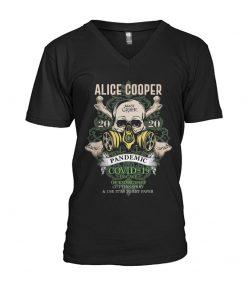 Alice Cooper Skull 2020 Covid-19 Pandemic v-neck