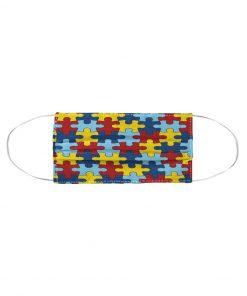 Autism Awareness puzzle piece cloth face mask2