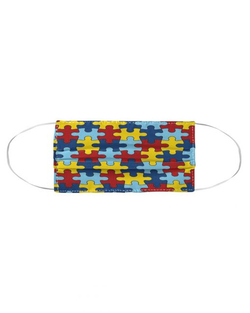 Autism Awareness puzzle piece cloth face mask2