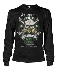 Avenged Sevenfold 2020 Covid-19 Pandemic Skull long sleeved