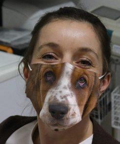 Basset Hound 3D face mask
