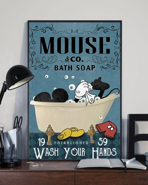 Bath Soap Company Mickey mouse vintage poster 2