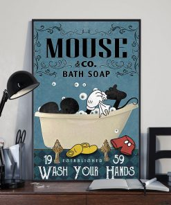Bath Soap Company Mickey mouse vintage poster 3