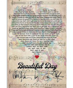 Beautiful Day Lyrics signatures poster1