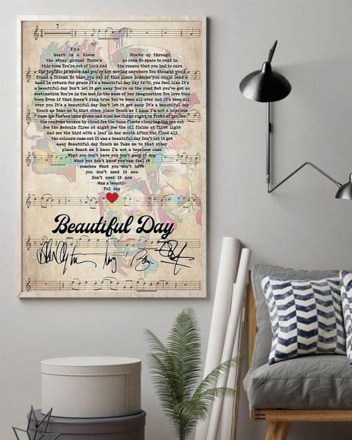 Beautiful Day Lyrics signatures poster2