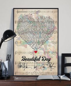 Beautiful Day Lyrics signatures poster3