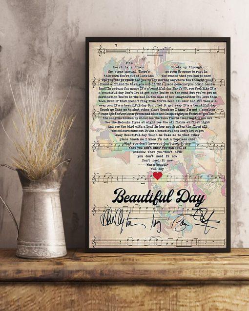 Beautiful Day Lyrics signatures poster4