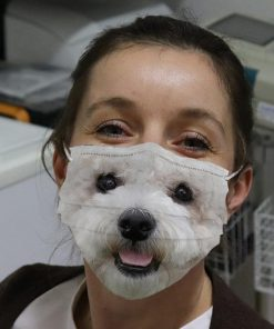 Bichon Frise 3D cloth face mask 0