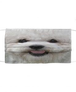 Bichon Frise 3D cloth face mask 1