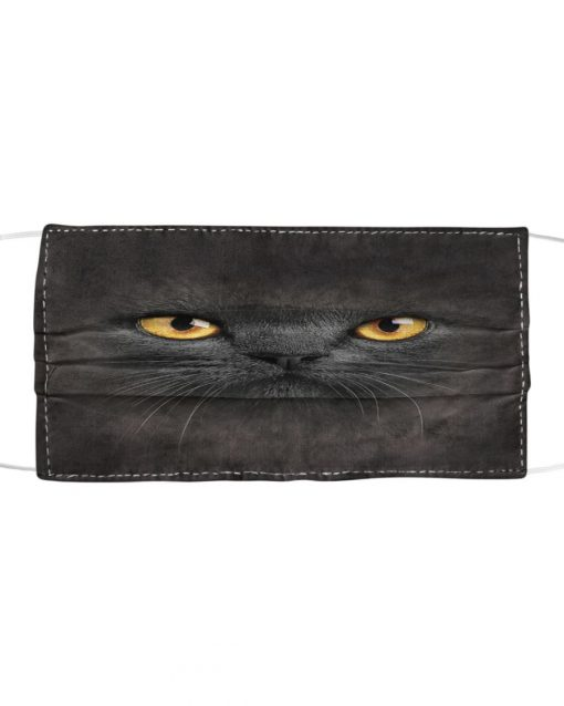 Black Cat 3D Cloth Face Mask 2