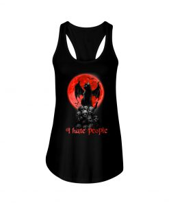 Black Cat And Blood Moon I hate people tank top