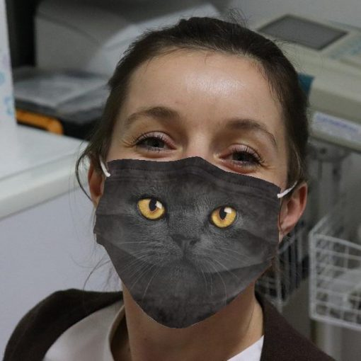 Black Cat Cloth Face Mask banner