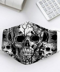 Black Skull drawing cloth mask 0