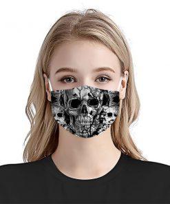 Black Skull drawing cloth mask 1