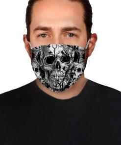 Black Skull drawing cloth mask 2