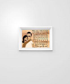 Bob & Tina When i say i love you more i don't mean i love you more than you love me I love you the most poster 2