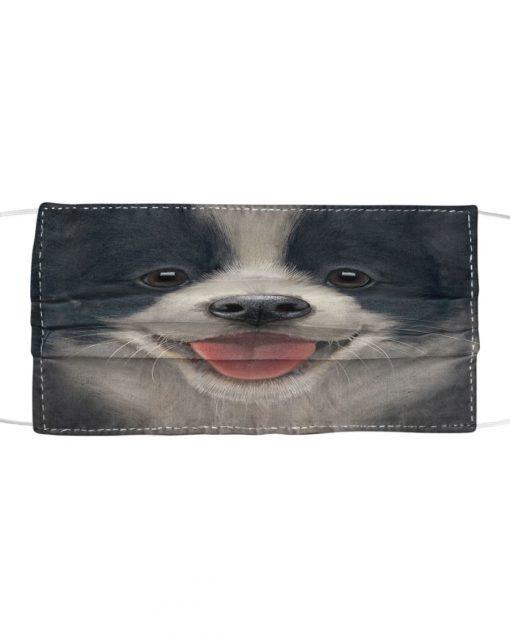 Border Collie Puppy 3D Cloth Face Mask 2