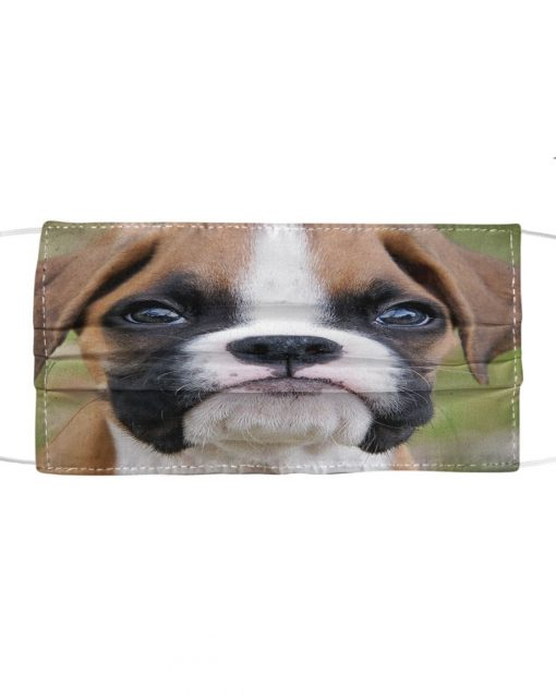 Boxer Dog 3D cloth face mask1