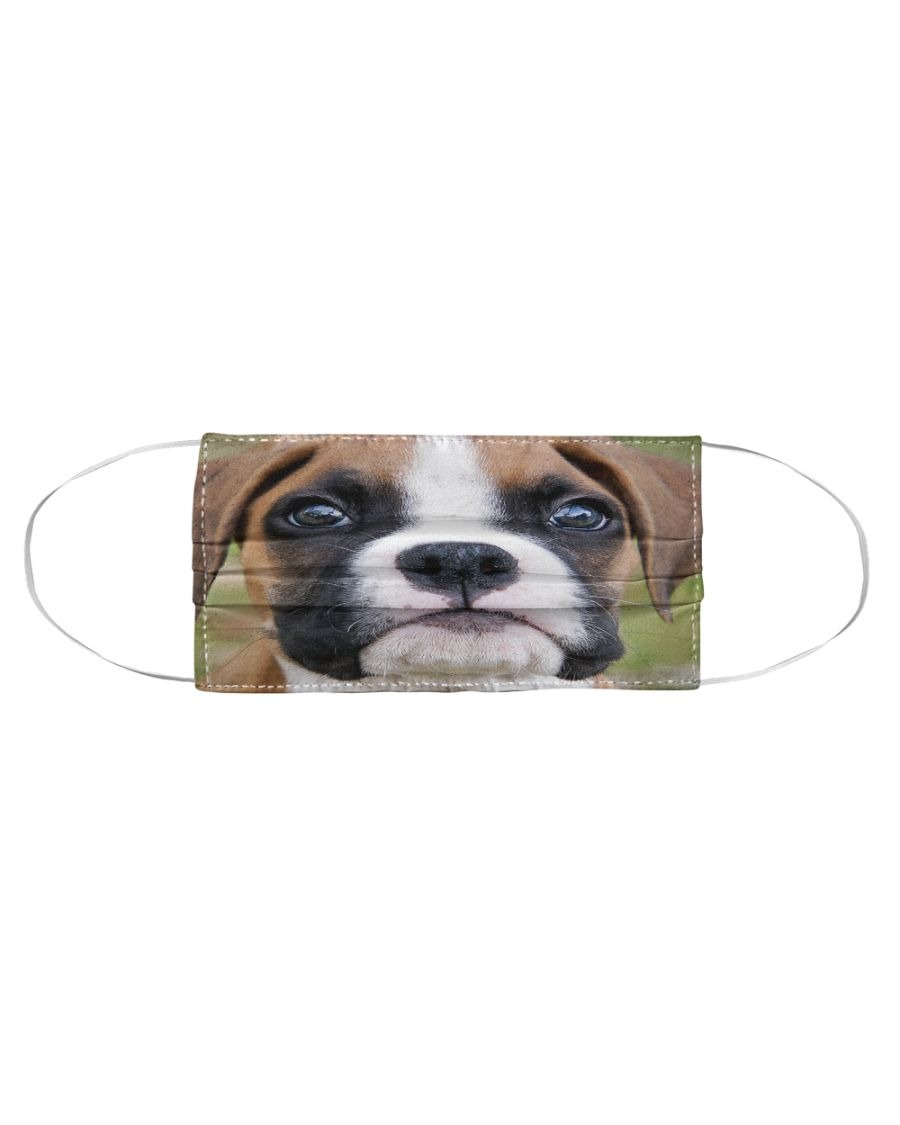 Boxer Dog 3D cloth face mask2