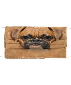 Brown Boxer Dog fabric mask 1