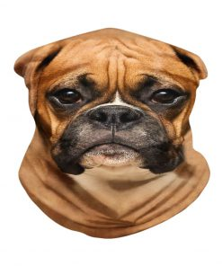 Brown Boxer Dog neck gaiter