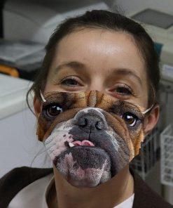 Bulldog 3D cloth face mask 0