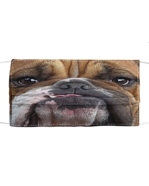Bulldog 3D cloth face mask 1