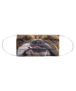 Bulldog 3D cloth face mask 2