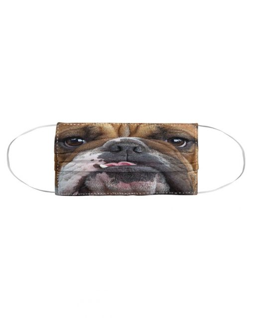 Bulldog 3D cloth face mask 2