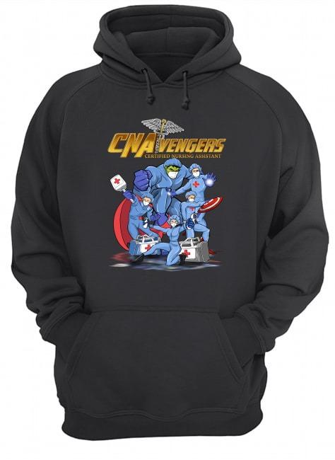 CNA Avengers Certified Nursing Assistants Heroes Covid 19 hoodie