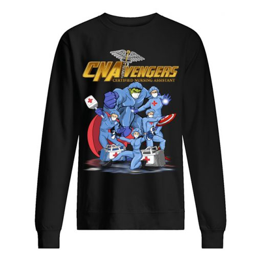 CNA Avengers Certified Nursing Assistants Heroes Covid 19 long sleeved