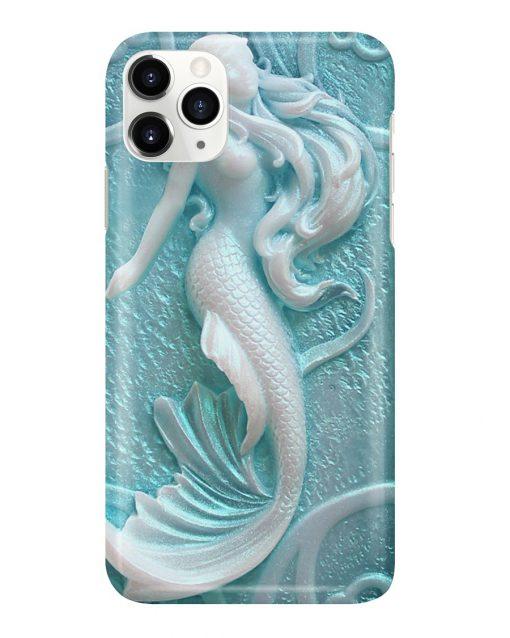 Carved mermaid 3d phone case 11