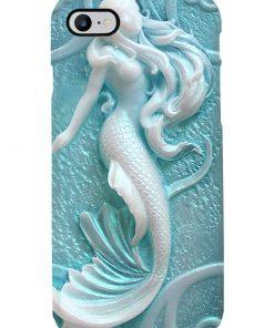 Carved mermaid 3d phone case 7