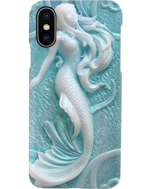 Carved mermaid 3d phone case x
