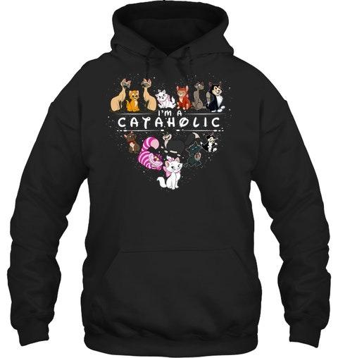 Cat I'm a Cataholic hoodie